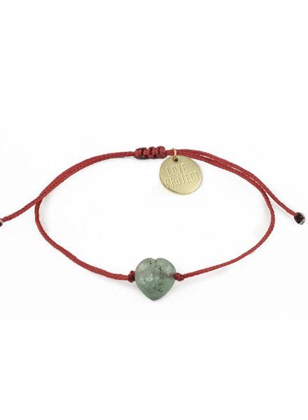 Love Project Jade Heart Bracelet