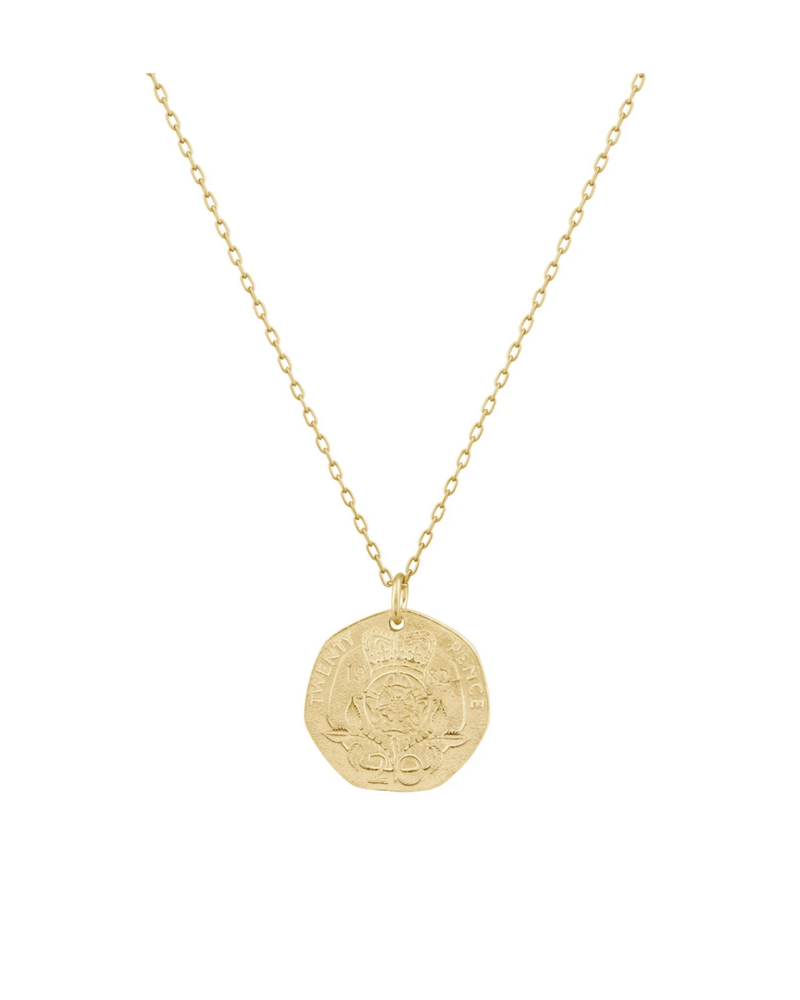 Rose Crown Coin Necklace