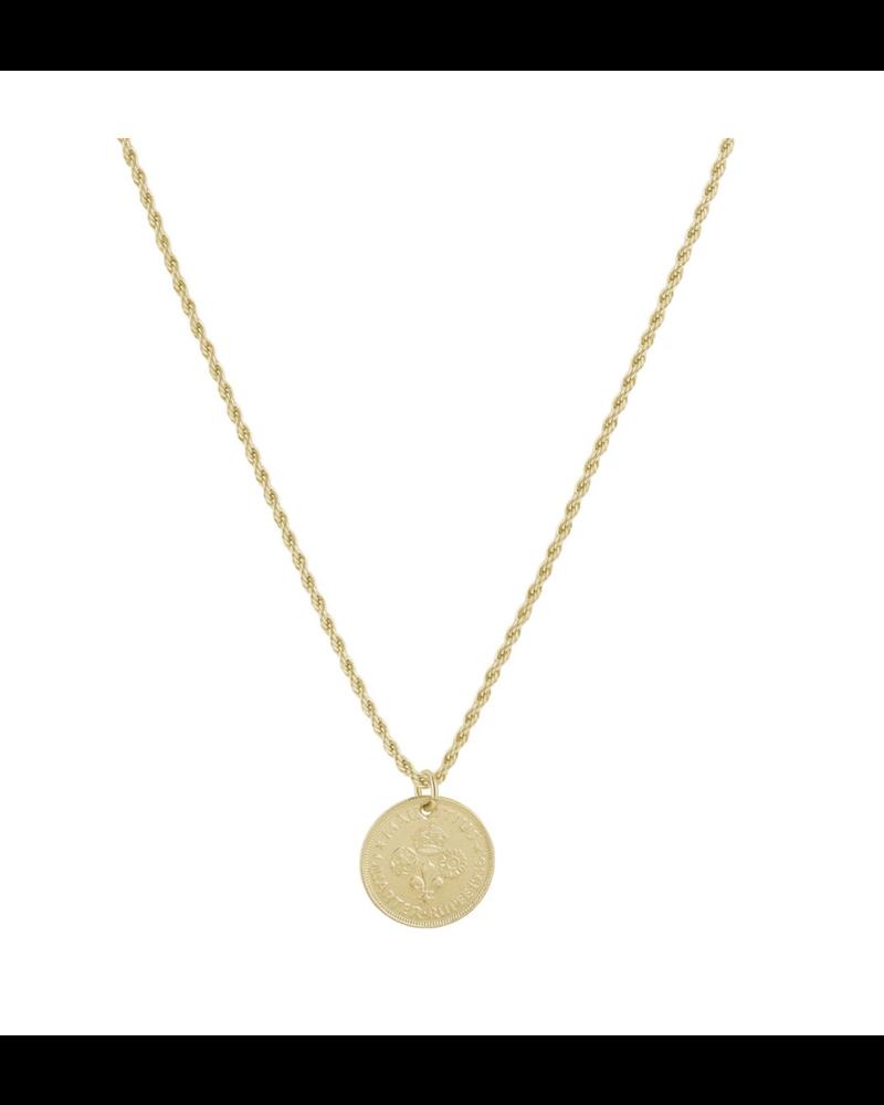 Clover Coin Necklace