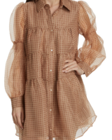 En Saison Organza  Tiered Mini Dress