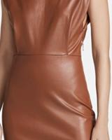 En Saison Vegan Padded Shoulder Dress