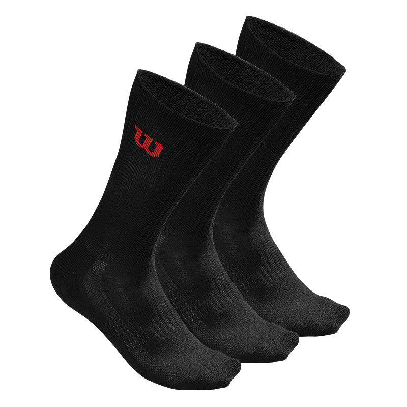 Wilson Wilson Men's Crew Sock noirs 3PK (6-13US)