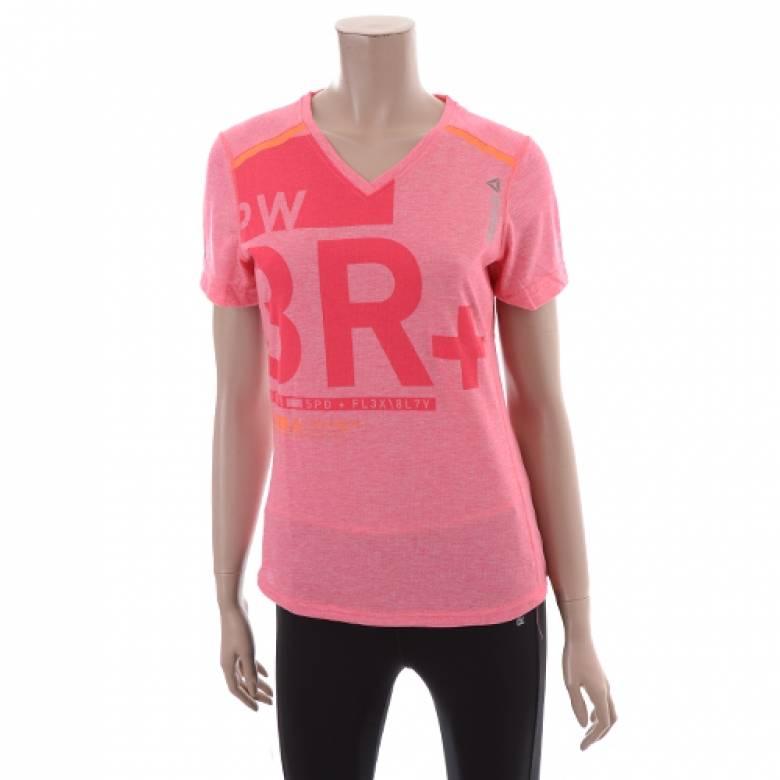 Reebok Reebok Women's One Series Pink Vneck Tshirt