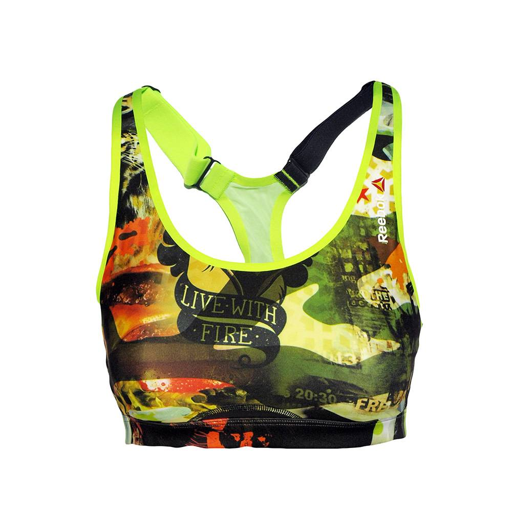 Reebok Reebok Hero Power Crazy Camo Sport Bra