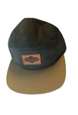Boulevard 5 Panel Leather Patch Cap
