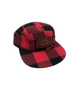 Arch Logo Plaid 5 Panel Cap
