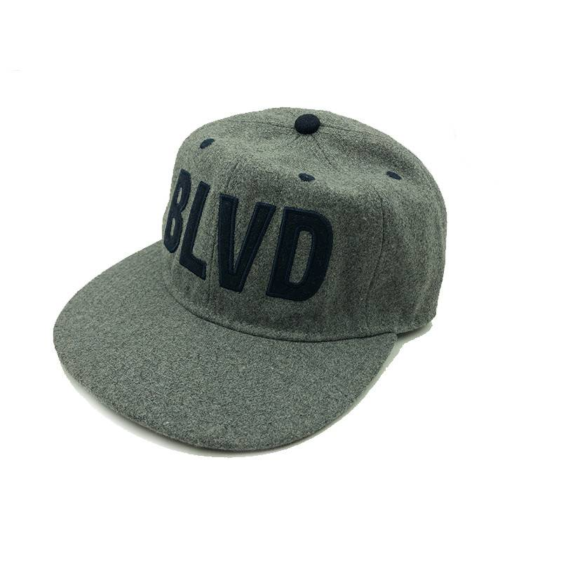 BLVD Gray Wool Cap