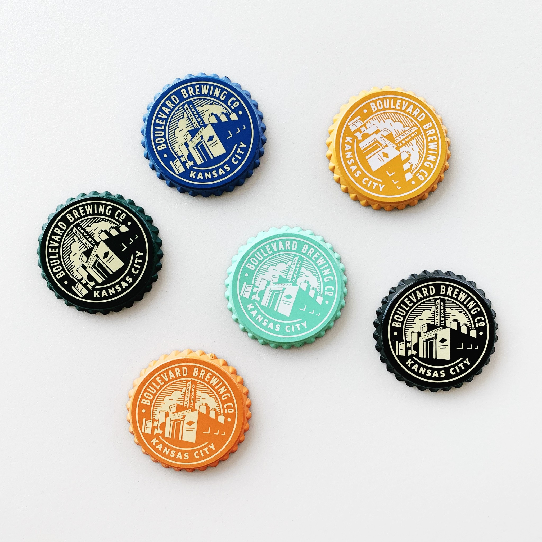 Bottle Cap Brewery Magnet
