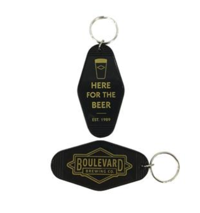 Vintage Motel Key Chain - Here for the Beer