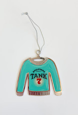 Tank 7 Ugly Christmas Sweater Ornament