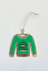 Nutcracker Ugly Christmas Sweater Ornament