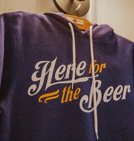 Charlie Hustle Here For The Beer Hoodie