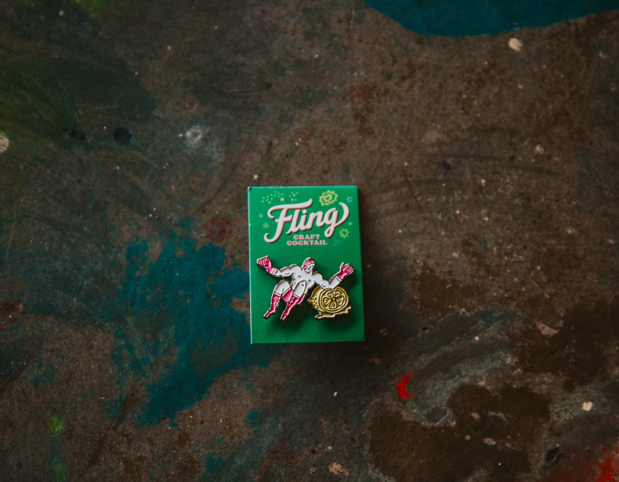 Fling Enamel Pin