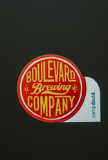 Boulevard Red Circle Sticker
