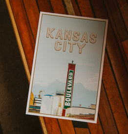 Kansas City Smokestack Poster