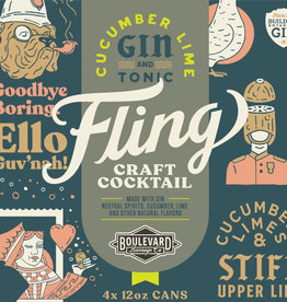 Fling Cucumber Lime Gin & Tonic Four Pack 12 oz. cans
