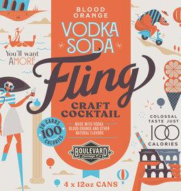 Fling Blood Orange Vodka Soda Four Pack 12 oz. cans