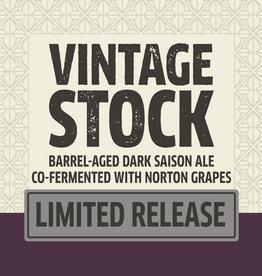 Vintage Stock Barrel-Aged  Dark Saison Ale 750 ml bottle