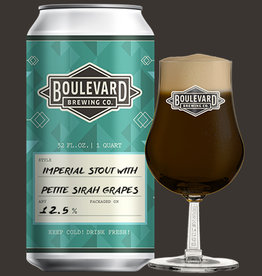 Imperial Stout with Petite Sirah Grapes 32 oz. Crowler