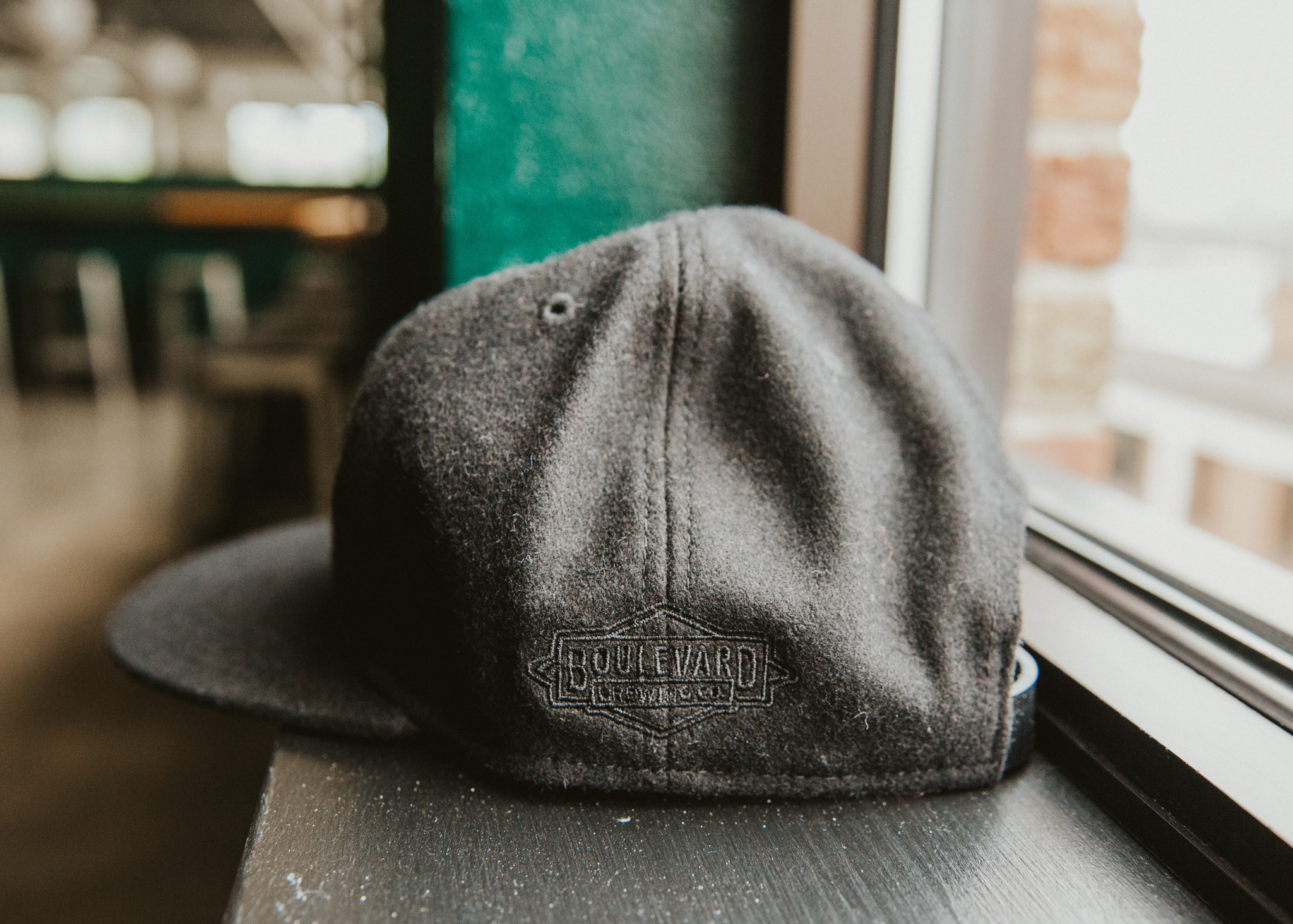 BLVD Black Wool Cap