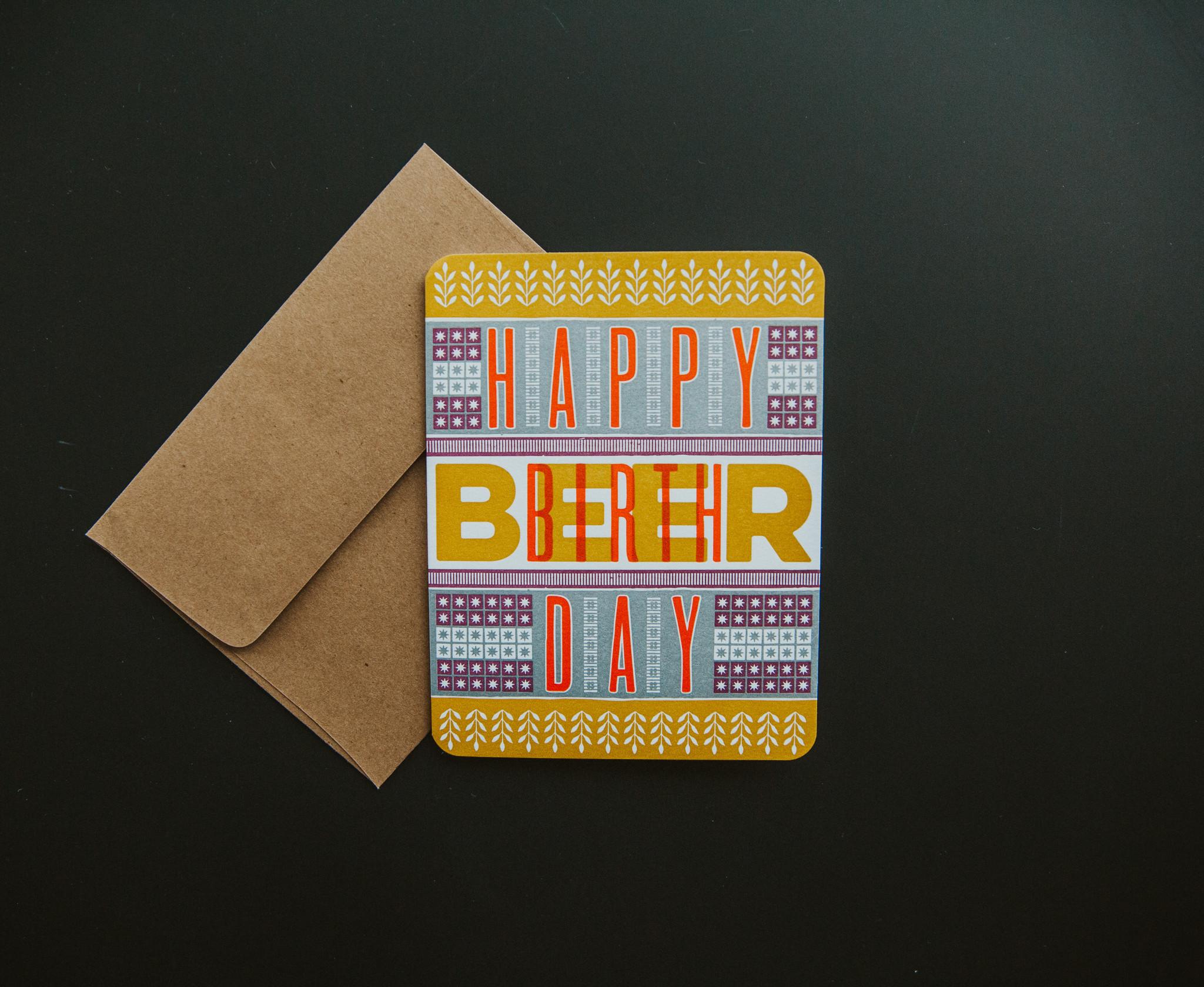 Hammerpress Birthday Card