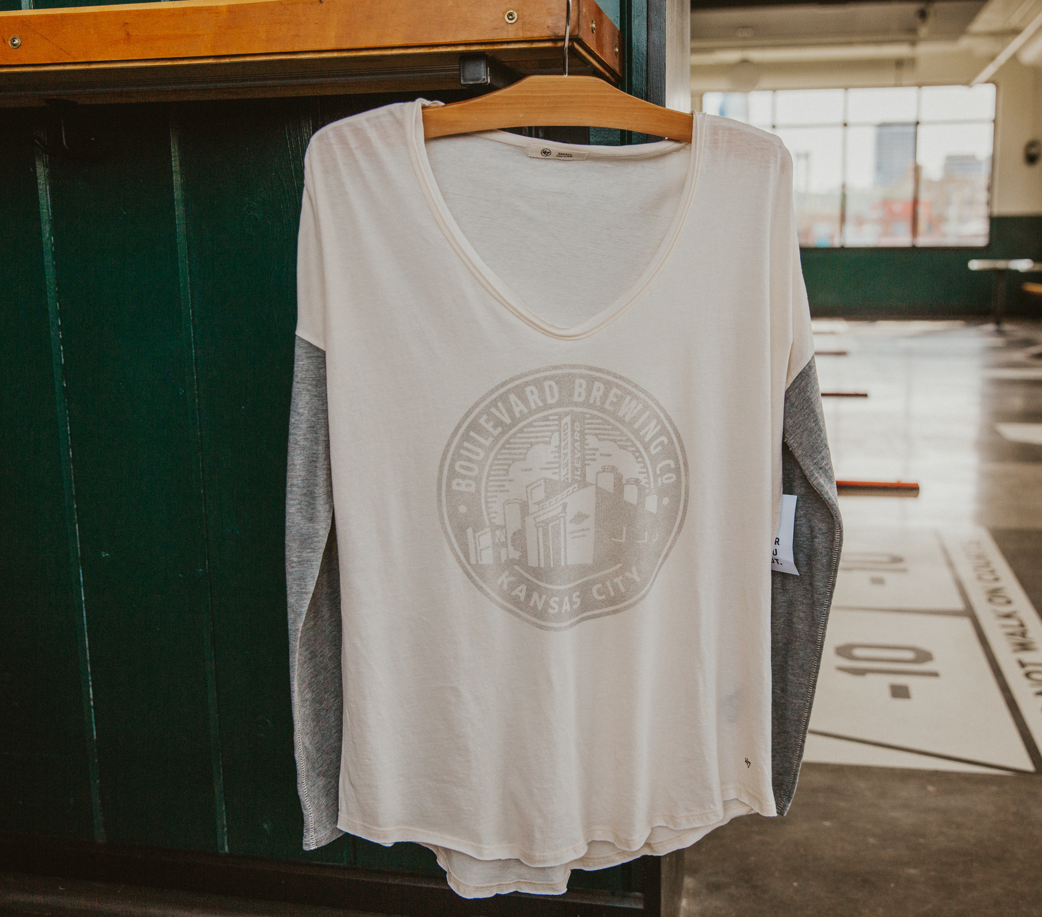 Women's Circle Brewery Letter LS Tee