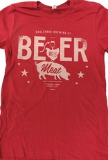 Beer Meets Meat Tee