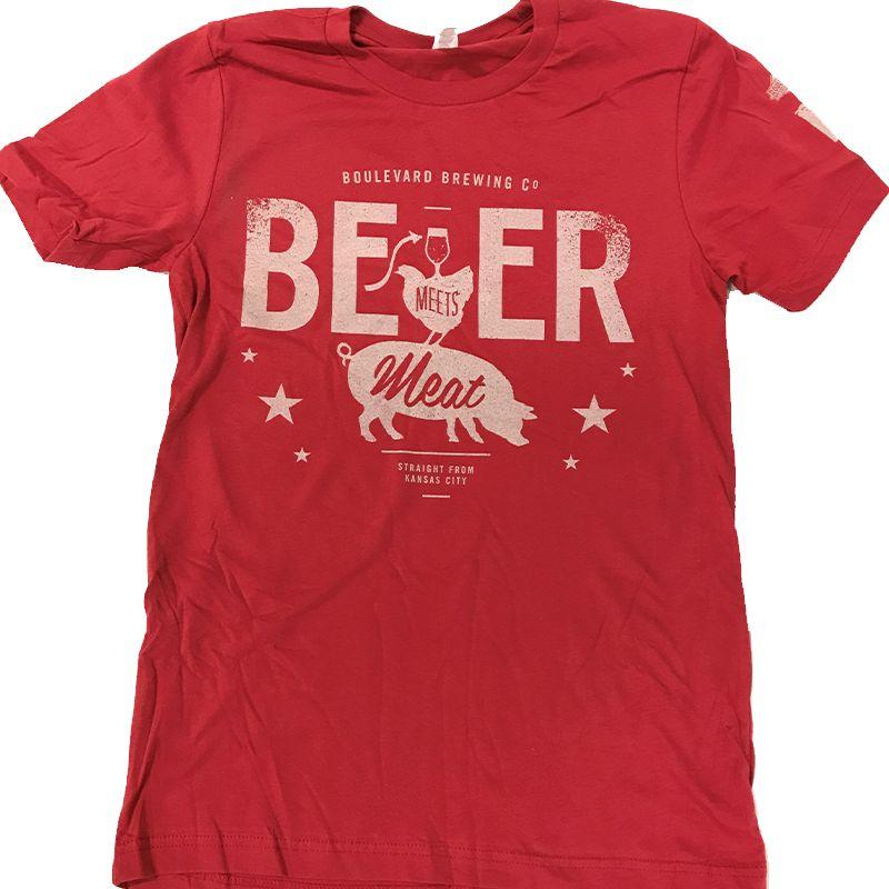 Beer Meets Meat Tee