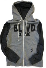 BLVD KCMO Two Toned Zip Up