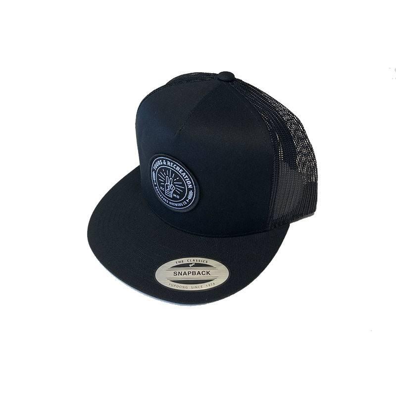 Tours & Rec Black Snapback Hat