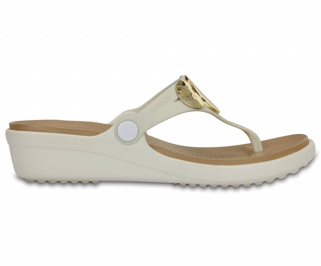 b80a483d3b8a CROCS Crocs Sanrah Embellished Wedge Flip 204009-13S Women s Flip Flops ...