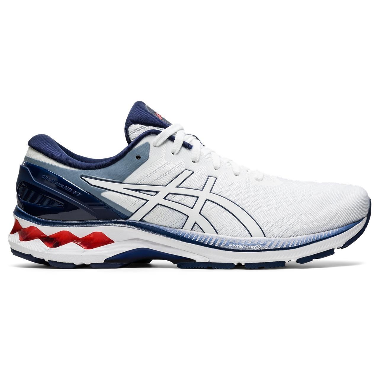 ASICS 1011A767 100 Gel Kayano 27 White Peacoat Men's Running Shoes
