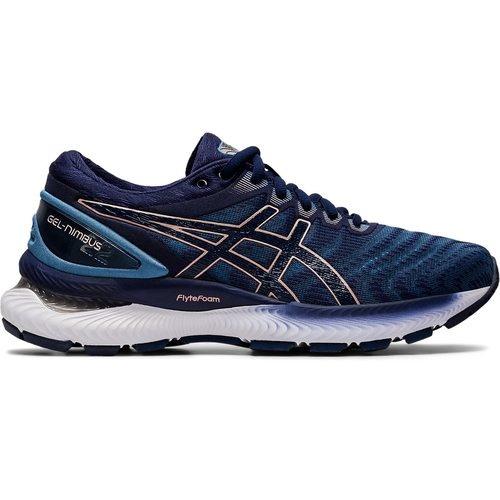 ASICS Asics 1012A587-401 GEL-NIMBUS 22 Grey Floss Peacoat Women's Running Shoes (Size 8 US)