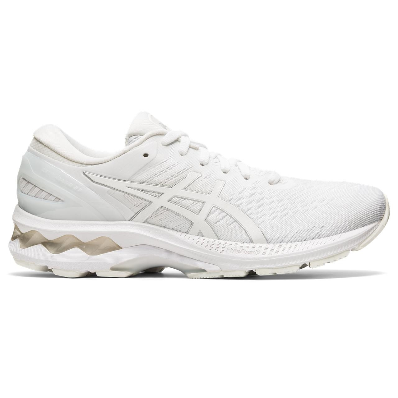 ASICS ASICS 1012A649 101 Gel Kayano 27 White White Women's Running Shoes (Size 8 US)