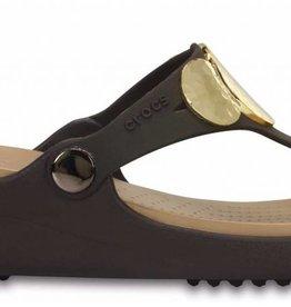481dfbfc20e CROCS Crocs Sanrah Embellished Wedge Flip 204009-23Q Women s Flip Flops