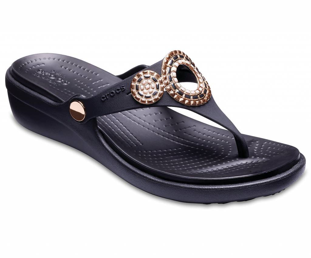 hot product new style hot-selling cheap Crocs Sanrah Diamante Wedge 205048 08O Women's Sandals