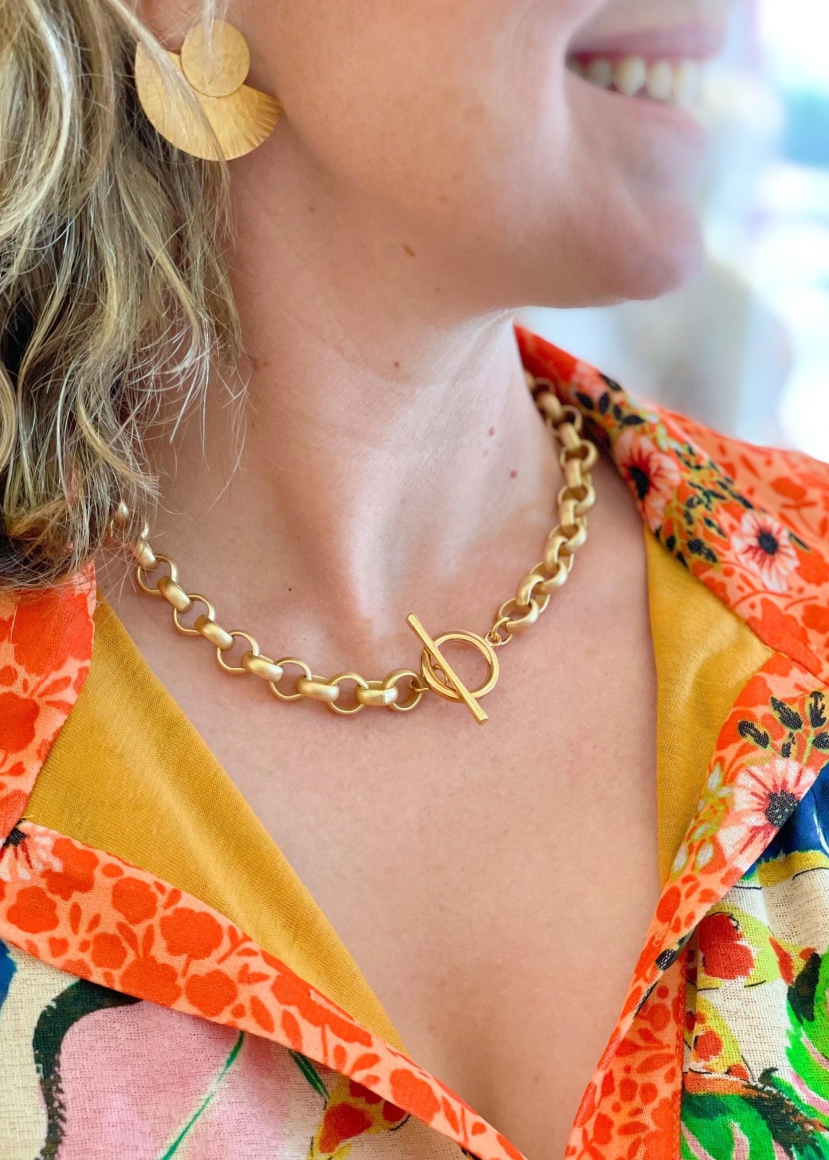 Mary Garrett Large Toggle Rolo Necklace