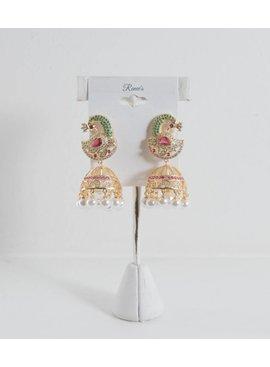 Earrings-PeacocksW/Jewels&Pearls