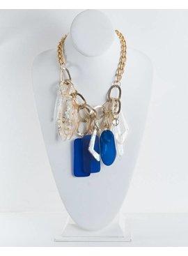 Zenzii Jewelry N1467GD/MLT-GeometricShapesTasselNecklace