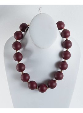 Zenzii Jewelry N1635RUBY-LargePearlNecklace