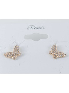 Theia Earrings 28905E0022-PapillionStudEarringsCZGold