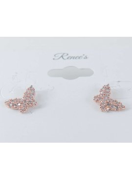 Theia Earrings 28906E0022-PapillionStudEarringsCZRoseGold