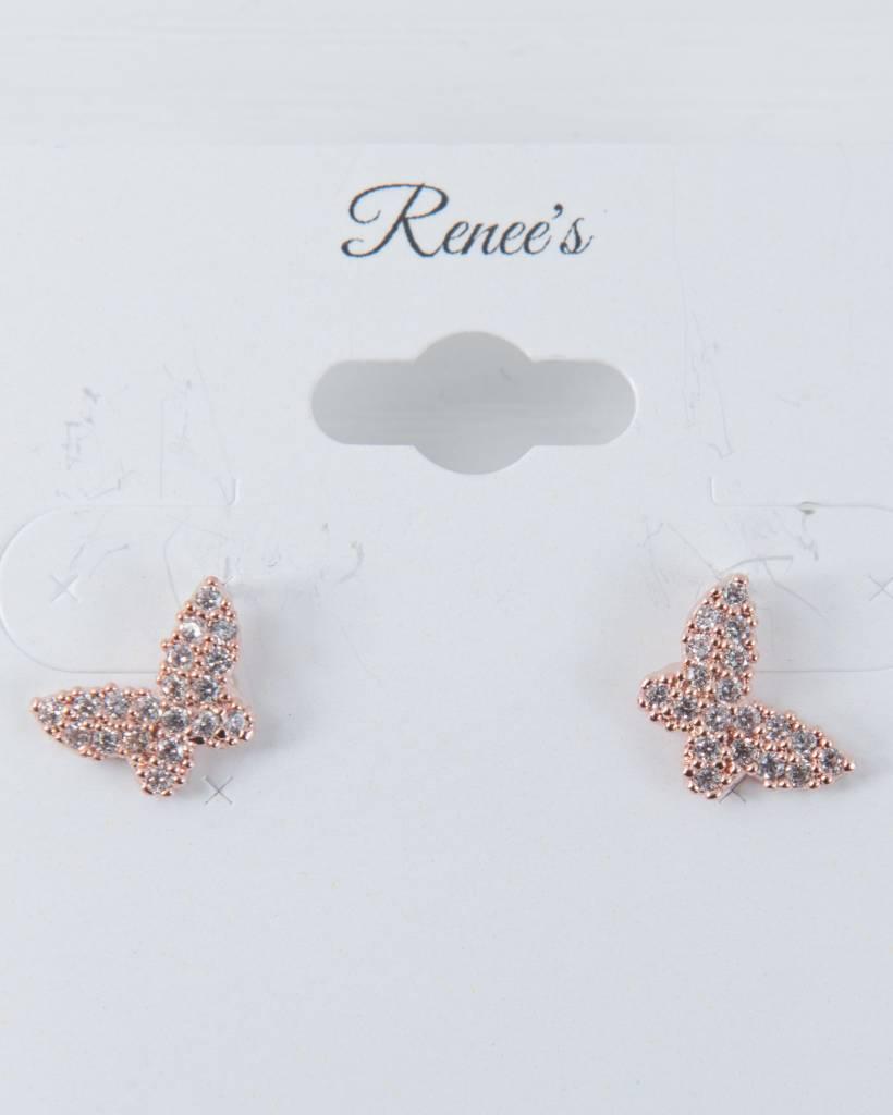 Theia Earrings 28906E0022-PapillionStudEarringsCZRoseGold