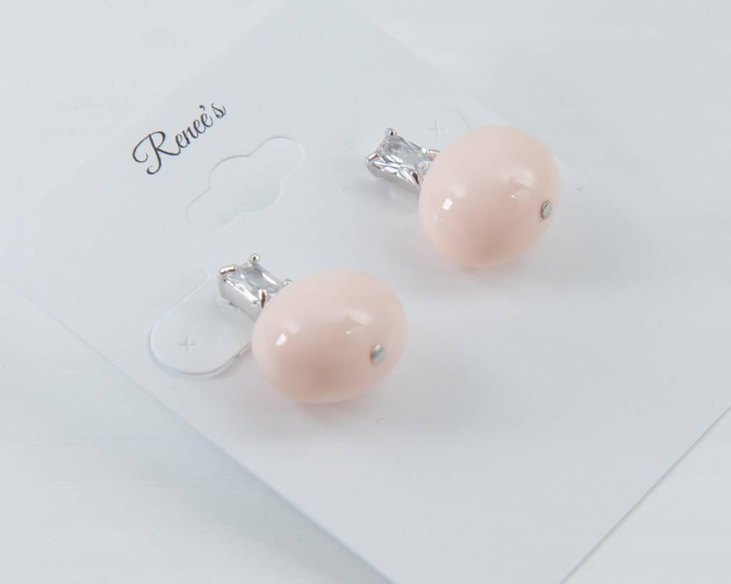 Theia Earrings 02575E0024-ShellPearlStudEarringsCoralWhiteGold