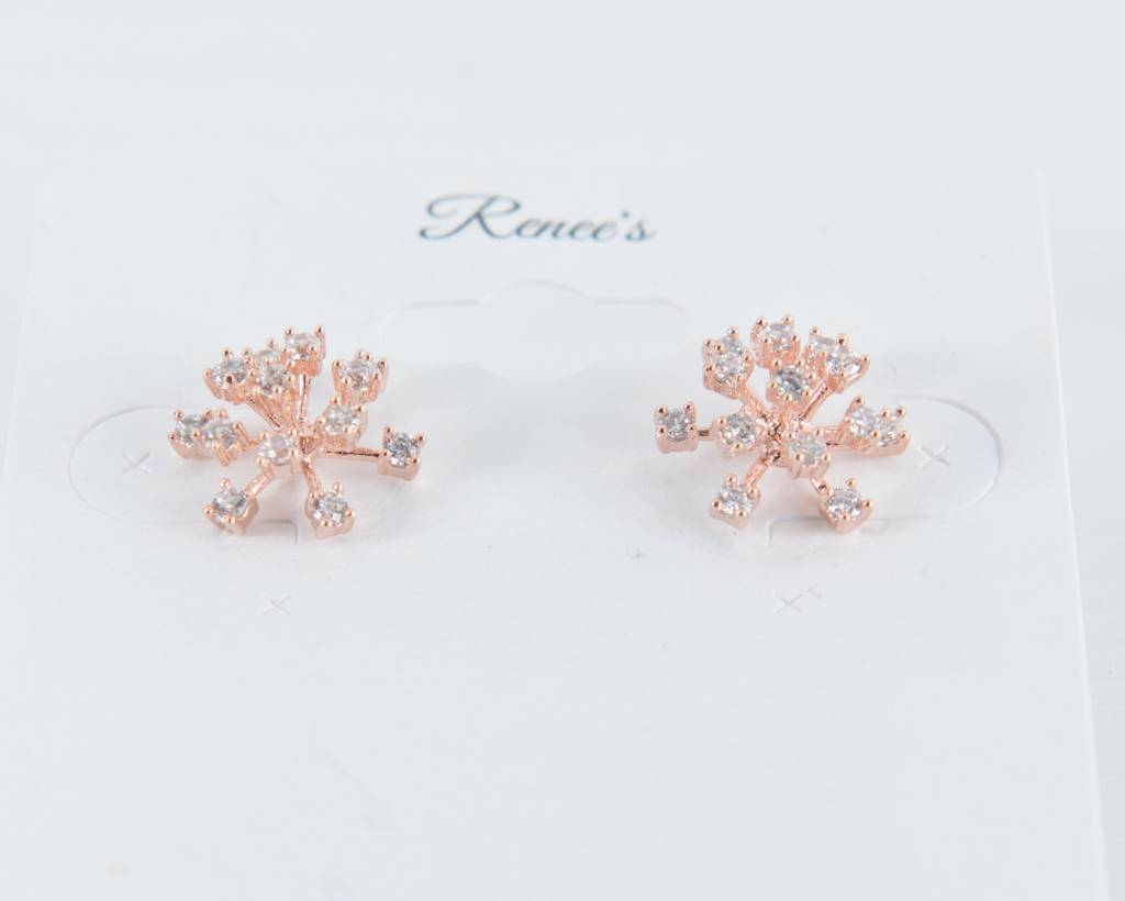 Theia Earrings 26177E0028-FlowerStudEarringsCZRoseGold