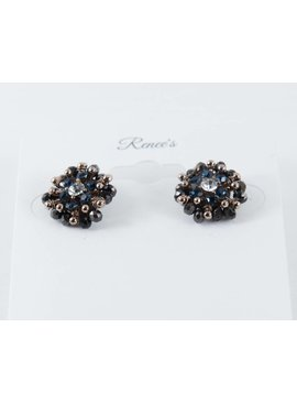 Theia Earrings 08661E0028-KateStudEarringsCrystalsBlue