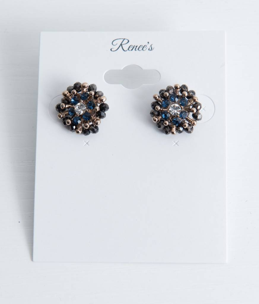 Theia Earrings 08661E0028-KateStudEarringsCrystalsBlue