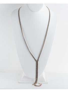Theia Necklace 11139N0068-ChampagneCZ/YNecklaceAntiqueGold