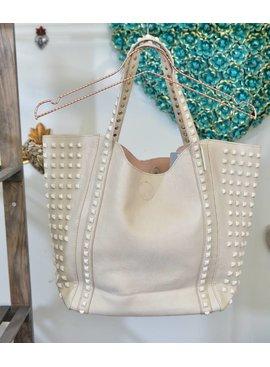 Handbag YS11445-3-BeigeHandbag
