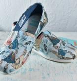 Toms Womens Shoes 10012497-WmBlueCinderellaPrintCvs